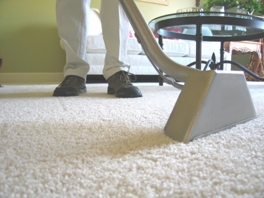 Cleaning the carpet can be a good exercise!