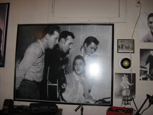"Sun Studios ""The Million Dollar Quartet"" Jerry Lee Lewis, Carl Perkins, Elvis, and Johnny Cash"