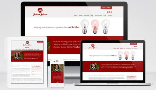 Lawyers Jackson Johnson's responsive website