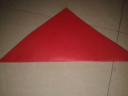 Another square sheet folded diagonal-wise