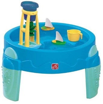 This water activity table is suitable for 1 year olds right up to 4 year olds.