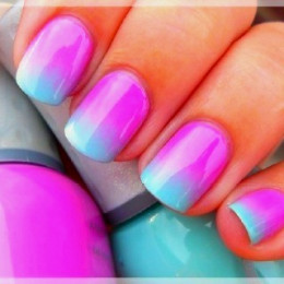 Pink-blue Ombre