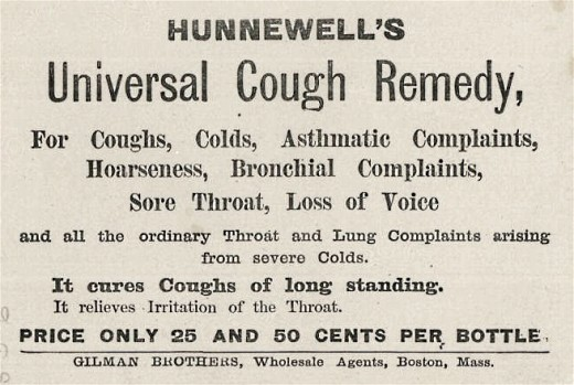 Old Poster for Cough Remedy