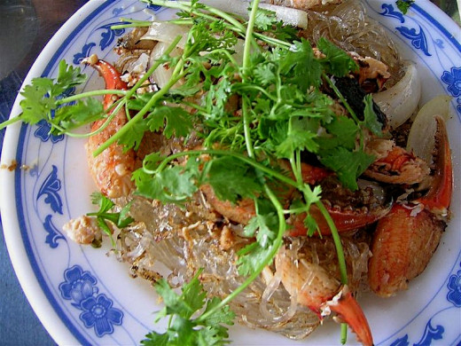 Vermicelli Noodles with Crab and Prawn