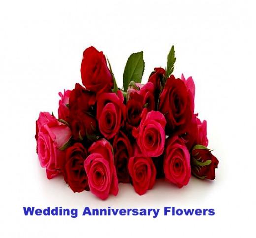 wedding anniversary flowers. Black Bedroom Furniture Sets. Home Design Ideas