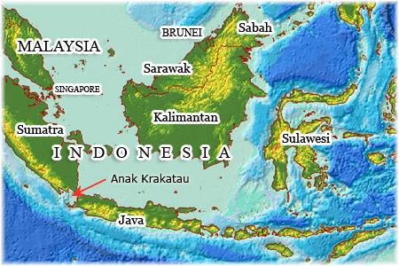 Location of Anak Krakatau