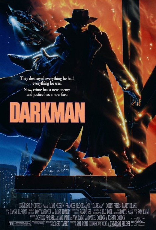 Darkman (1990) poster art by John Alvin