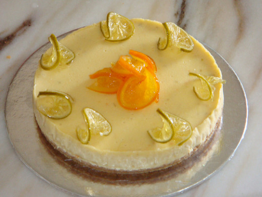 Sugarfree Orange And Lime Baked Cheesecake