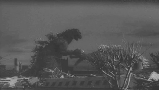 Godzilla and Angilas do battle in Osaka