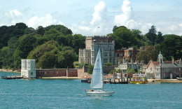 View of the castle on Brownsea Island, Dorset