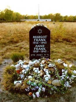 Symbolic Gravestone of Anne Frank