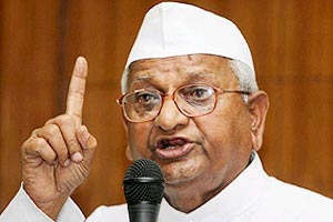Anna Hazare giving speech