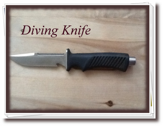 The knife I use while diving