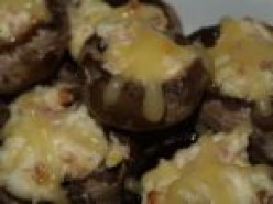 Stuffed Mushrooms with Sliced Almonds