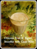 Fruit and Yogurt Smoothie with Cacao Nibs ~ Quick and Easy Healthy Breakfast Recipe