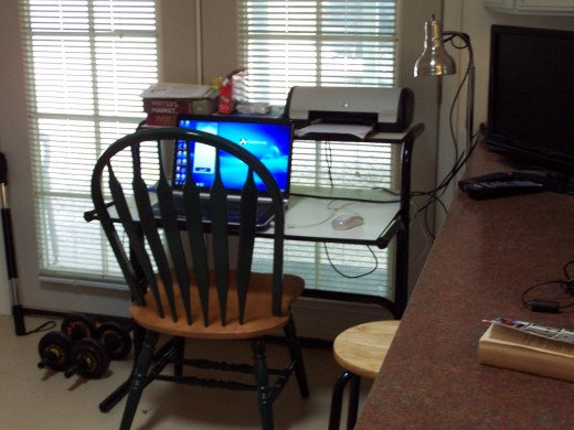 The writer's studio and place of work