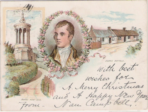 Robbie Burns on Ayr - postcard
