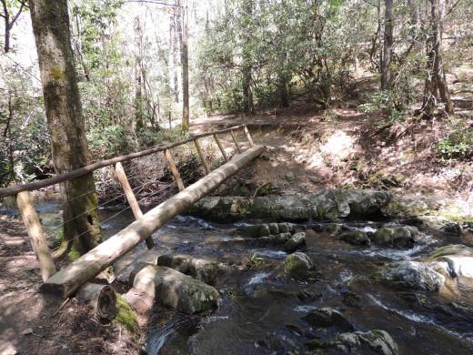 This trail has 3 bridges like this to cross