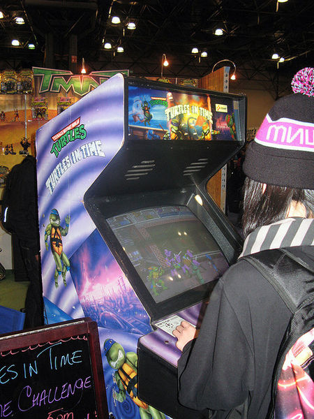 The Teenage Mutant Ninja Turtles were featured in a series of action arcade games.
