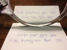 Use a mirror to read secret writings.