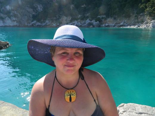 Enjoying the beach at Capri