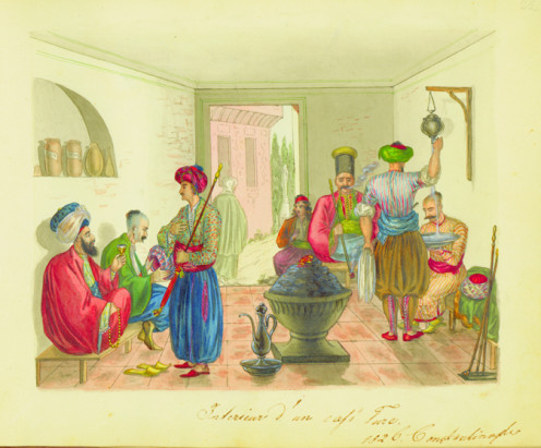 A Coffeehouse in Constantinople
