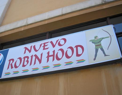 Nuevo Robin Hood sign