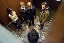 Devil (2010), this movie centers around 5 people of dubious character on an elevator. SOMEONE on the elevator is NOT who he/she APPEARS to be............