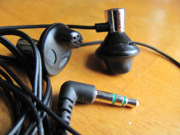 Close-Up detail of Sony MDR-ED12LP earbud-style headphones