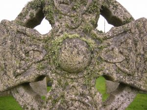 An ancient celtic cross. The Celtic tribes had a very unique style of art