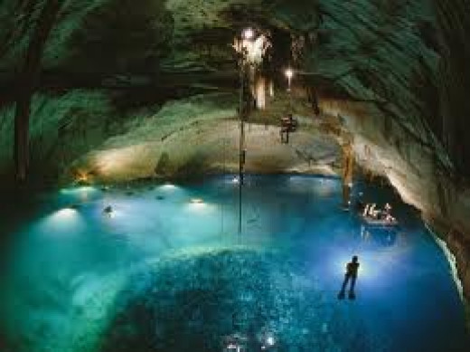 Peacock Springs has the longest underwater cave system.