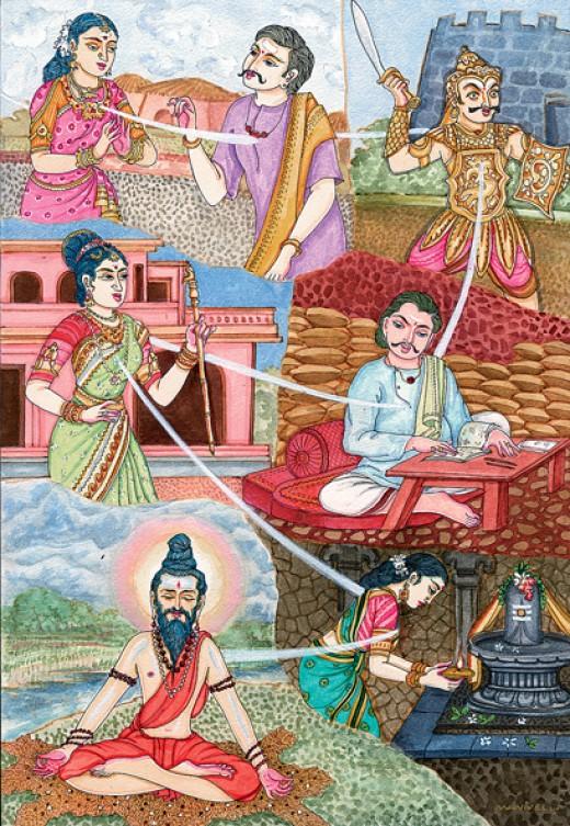 Reincarnation in Hindu art