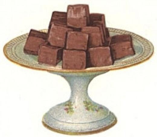 Plate full of fudge