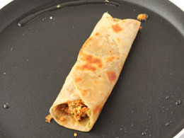 Chapatti Rolls With Paneer Fillings