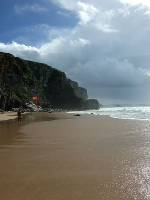 7 Things to Do in Cornwall Before You are 12: Run around in the rain.  Watergate Bay, Newquay, Cornwall.