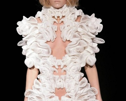 Clothing made from a 3D printer.  Will there be more good or bad from this new technology?