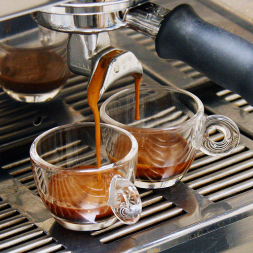 Double espresso maker