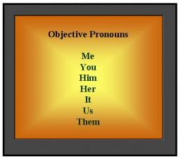 List of Objective Pronouns