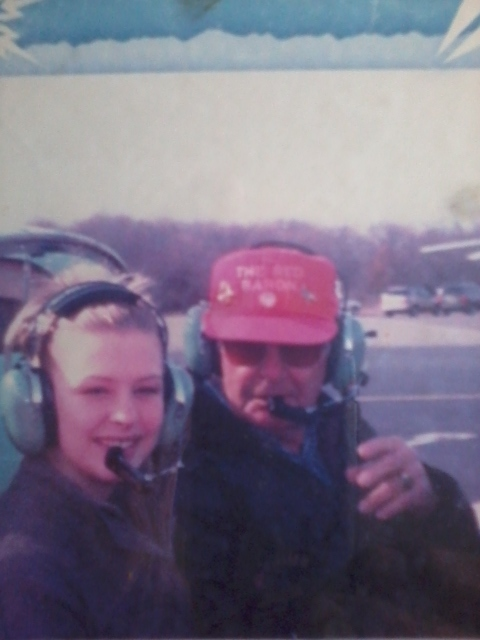 MY DAUGHTER AND MY FATHER GETTING READY TO TAKE OFF IN TO THE BLUE SKIES