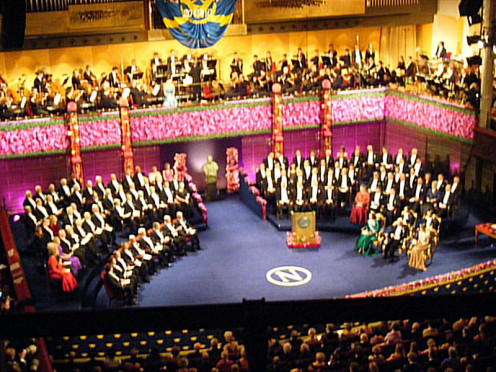The Nobel Prize Ceremony is held every year in Stockholm.