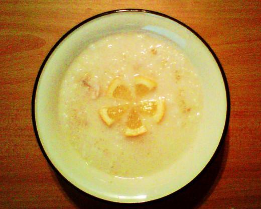 Avgolemono soup!