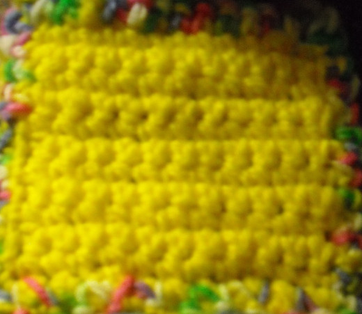 Here is a swatch sample of simgle crochet I use to gauge stitches.