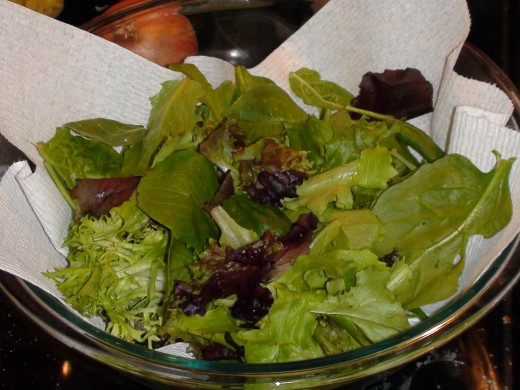 Use any mixed lettuce greens you like.