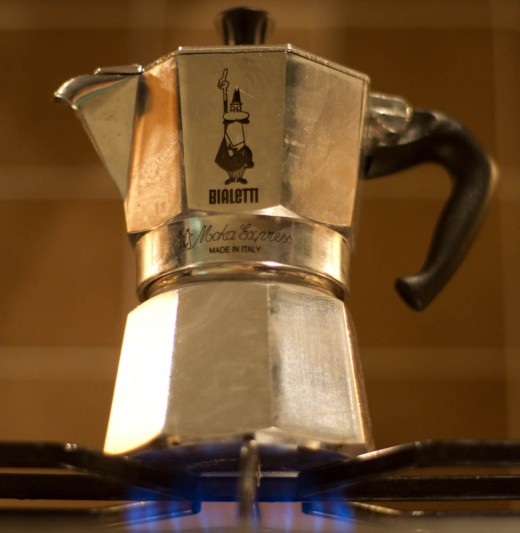 "The Moka is the ""machinetta"" (literally, ""little machine"") that most Italians use to brew espresso at home."