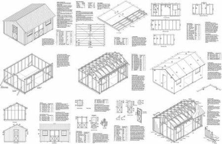 12 X 16 saltbox storage shed plans