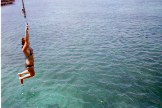 Honeymoon in Aruba - Rope Swing