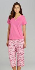 Karen Neuburger Paradise Cove Short-Sleeve Tee & Bird Print Capris Sleep Set / Dillards