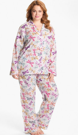 PJ Salvage Woven Pajamas (Plus) / Nordstrom