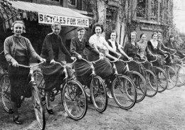 Bikes for hire have been available for a long time in some places.