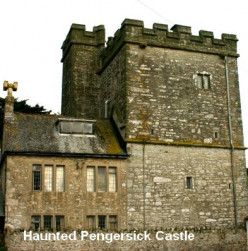 A Haunted Cornish Castle: Pengersick Castle, Praa Sands,England.